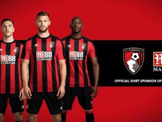 M88bet tài trợ chính cho CLB AFC Bournemouth
